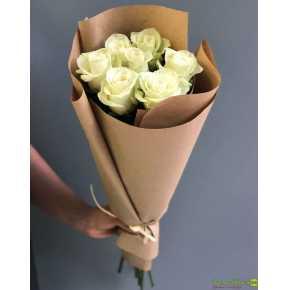 Букет 7 белых роз (6)