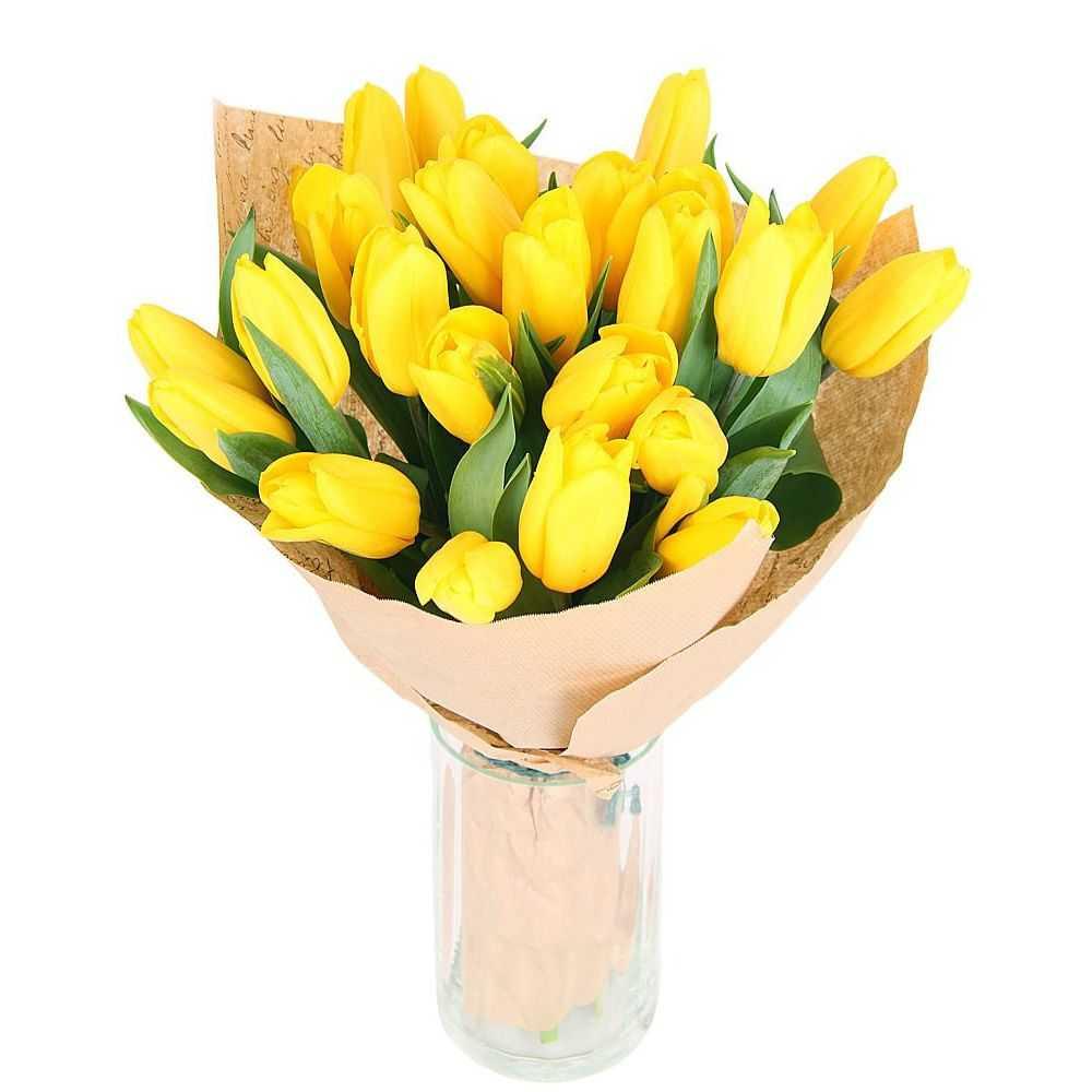 Букет из фиолетовых и желтых тюльпанов, букеты из конфет цена самара
