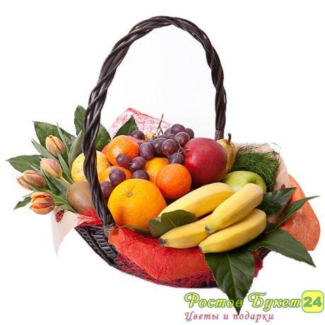 Доставка цветов и фруктовых корзин г.ростов на дону купить розы астрахань