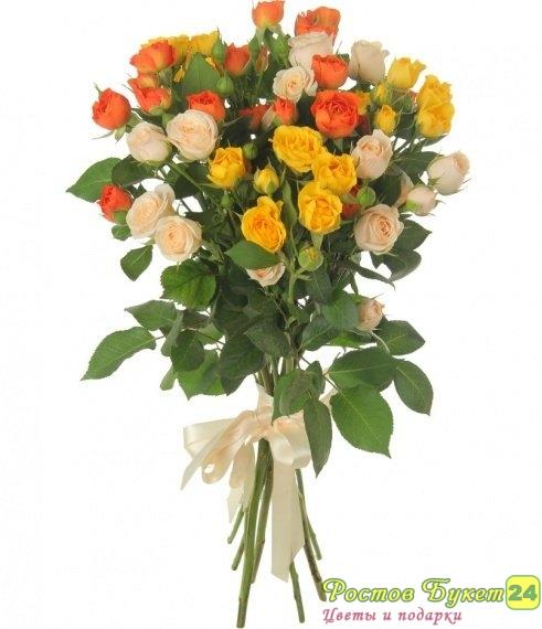 Доставка букеты из кустовых роз фото, яркий свадебный букет из фрезии и эустомы