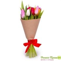 Купить букет из 9 тюльпанов в интернет магазине. У нас можно купить цветы online с доставкой по Ростову-на-Дону и ростовской области.